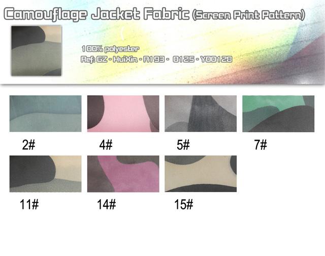 Camouflage Jacket Fabric(Screen Print Pattern)
