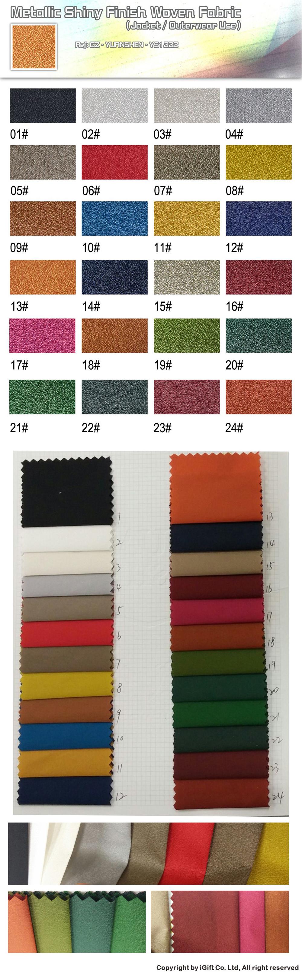 MetallicShiny Finish Woven Fabric YS1222