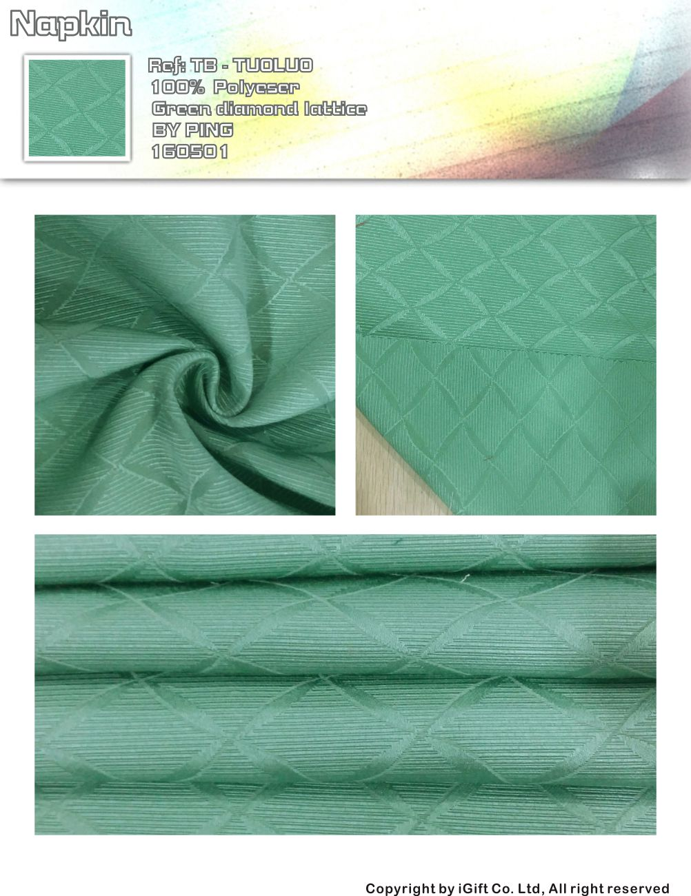 Napkin-green diamond lattice