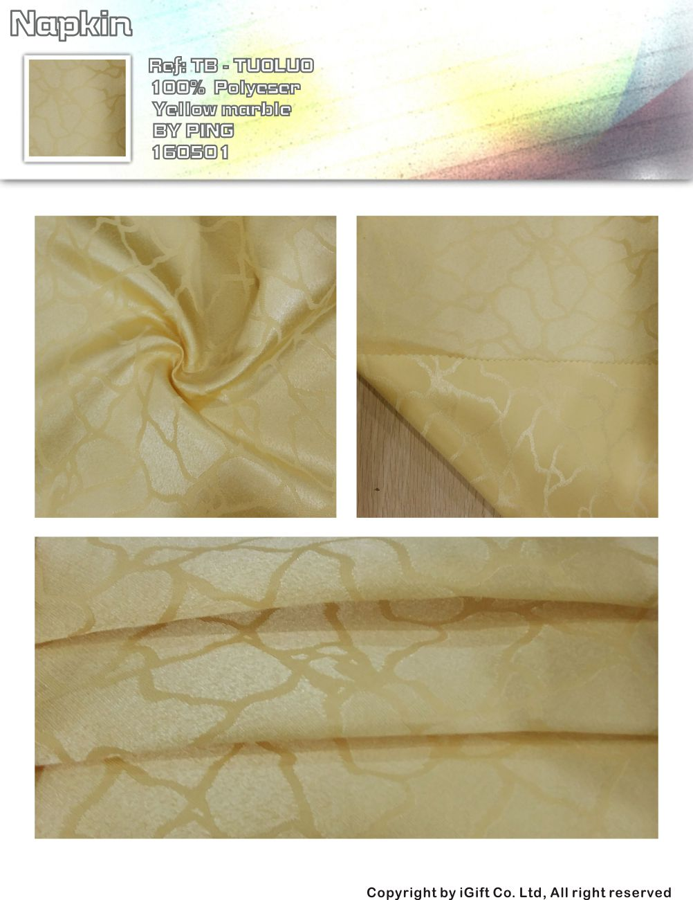 Napkin-yellow marble