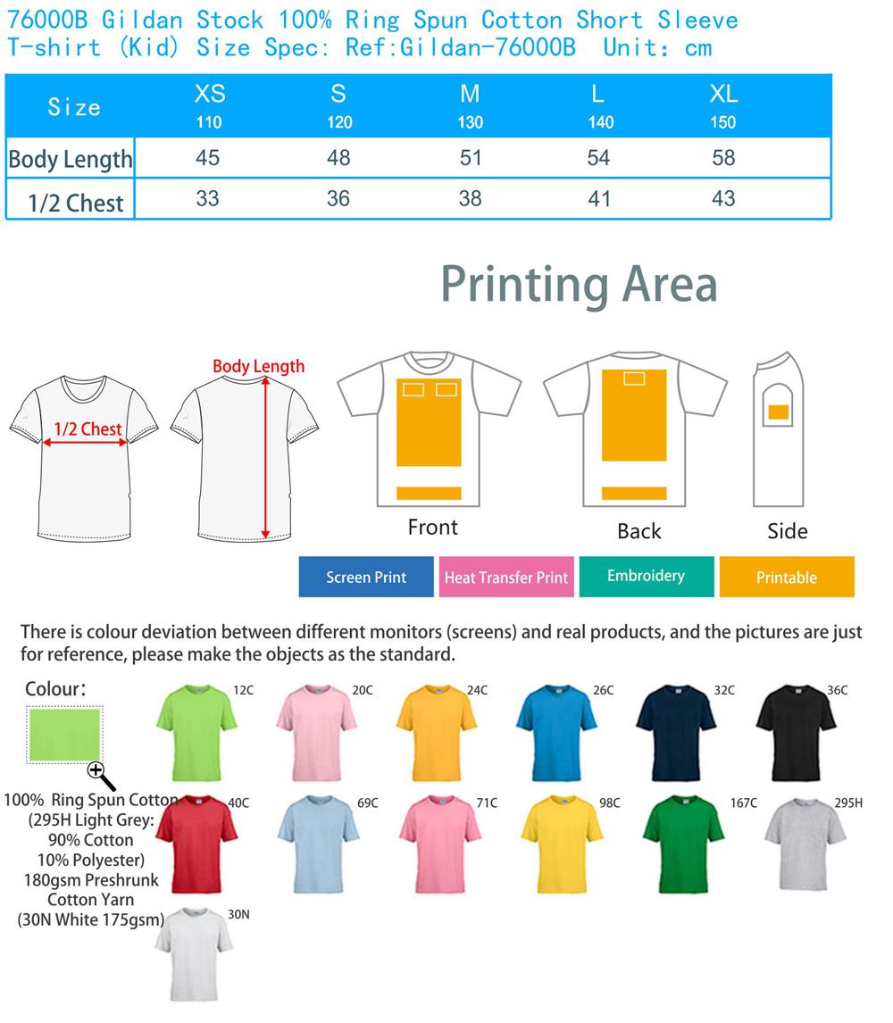 gildan t shirt size guide