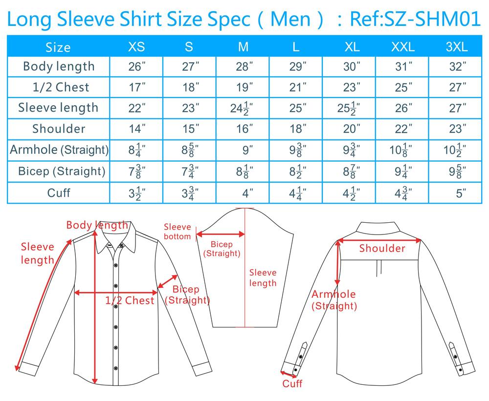 Shirt size chart shirt size chart slim fit shirt size conversion shirt size listmenshort sleeve nvjuhfo Choice Image